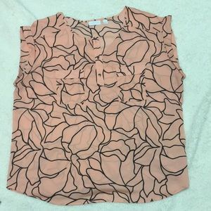 Pink and black floral short sleeve